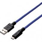 microUSBケーブル/2A出力/高耐久/1.5m/ブルー