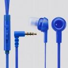 スマートフォン用ヘッドホン/3.5直径4極/マイク有/ステレオ/カナル/CS3520/ブルー