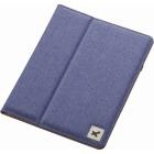 タブレット汎用ブックタイプケース/ファブリック/8.5〜10.5インチ/ブルー