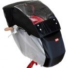 RCF-001 自転車幼児座席専用風防レインカバー(前用) (ブラック/グレー)