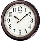 木枠スタンダード電波アナログ掛時計(丸・濃茶) KX385B