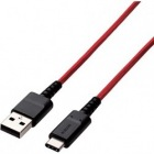 スマートフォン用USBケーブル/USB(A-C)/高耐久/0.7m/レッド