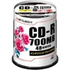 CD-R 700MB 4〜48倍速対応 100枚スピンドルケース入印刷可能ホワイトレーベル