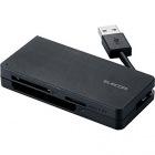 メモリリーダライタ/USB3.0対応/ケーブル収納/SD+microSD+CF/ブラック