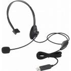 USBヘッドセットマイクロフォン/片耳オーバーヘッド/1.8m