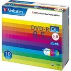 DVD-R DL 8.5GB PCデータ用 8倍速対応 10枚スリムケース入りワイド印刷可能