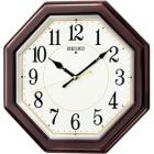 木枠スタンダード電波アナログ掛時計(八角・濃茶) KX386B
