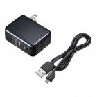 USBTypeCポート搭載QuickCharge3.0対応AC充電器(ブラック)