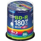 BD-R (Video) 1回録画用 130分 1-6倍速 100枚スピンドルケース100P インクジェットプリンタ対応(ホワイト) ワイド印刷エリア対応
