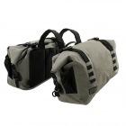 バイク用防水サイドバッグ ターポリンサイドバッグ ( カーキ )