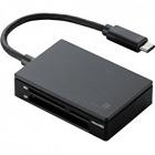 メモリリーダライタ/USB Type-Cコネクタ/USB3.1 Gen1/SD+MS+CF+XD/Mac用/ブラック