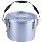 シルバーアルマイト丸型二重クリップ付食缶 238 (8l) 中蓋付 業務用