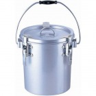 シルバーアルマイト丸型二重クリップ付食缶 237-B (6l) 業務用