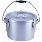 シルバーアルマイト丸型二重クリップ付食缶 237-H (4l) 業務用
