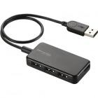 USBHUB2.0/バスパワー/タブレット向け/4ポート/ブラック