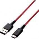スマートフォン用USBケーブル/USB(A-C)/高耐久/1.2m/レッド