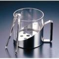 ガラス製 アイスペール(トング付) 9073(W)