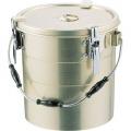 アルマイト 丸型二重クリップ付食缶 241 (16l) 業務用