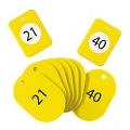 クロークチケット21〜40黄