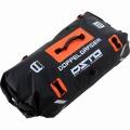 デュアルストレージツーリングバッグ 大容量 60リットル 荷物を分けられる2気室構造 DBT217 (ブラック×オレンジ)