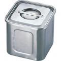 エコクリーンUK18-8 深型角キッチンポット 13.5cm 業務用