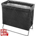 サイドワゴン・メッシュレザー調 PVC R-359BK ブラック