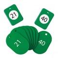 クロークチケット21〜40緑