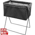 サイドワゴン浅型・メッシュレザー調 PVC R-338BK ブラック 合皮 Lサイズ