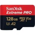 128GB microSDXC Extreme Pro UHS-I U3 A2 アダプタ付 [ 海外パッケージ ]