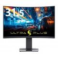 プリンストン ULTRA PLUS DisplayHDR 400対応 31.5型 144Hz WQHD 曲面パネル採用 ゲーミング液晶ディスプレイ