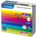 Verbatim DTR85HP10V1 データ用DVD+R DL 8.5GB 2.4-8倍速 5mmスリムケース入10枚P