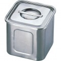 エコクリーンUK18-8 深型角キッチンポット 16.5cm 業務用