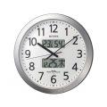 リズム 電波掛時計 プログラムカレンダー404SR 4FN404SR19