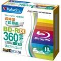 (Verbatim)録画用BD-R DL(片面2層) 1-4倍速 インクジェットプリント対応ワイド(白) 10枚5mmスリムケース入り