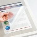 再生透明オレフィンデスクマット ダブル(下敷き付グレー) 1390×690mm