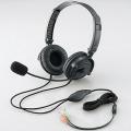 ヘッドセット(両耳オーバーヘッド)/1.8m/ステレオミニ/ブラック
