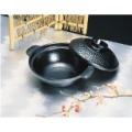 アルミ 槌目寄せ鍋(黒)18cm