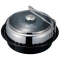 機能鍋 Dome Grill ( ドームグリル ) 炭火、コンロ ( ガス、カセット ) 専用 スキレット付き レシピ付き アウトドアクッキング