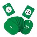 クロークチケット1〜20緑