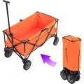 フォールディングキャリーワゴン (容量 約150L 積載重量 約100kg) オレンジ/ブラック
