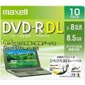 データ用 DVD-R DL 8.5GB 8倍速 CPRM対応 10枚 Pケース インクジェット対応(ホワイト)