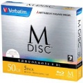 M-DISC BD-R DL<片面2層> 1回記録用 50GB 1-6倍速 1枚5mmケース(透明)5P インクジェットプリンタ対応(ホワイト)