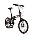 20インチ 折りたたみ 自転車 7段変速 【大型商品につき代引不可・時間指定不可・返品不可】