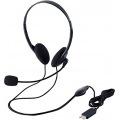 USBヘッドセットマイクロフォン/両耳オーバーヘッド/1.8m