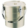 アルマイト 丸型二重クリップ付食缶 240 (14l) 業務用 写真1
