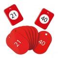 クロークチケット21〜40赤
