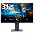 ULTRA PLUS ゲーミング液晶ディスプレイ FreeSync 2 HDR対応 31.5型 144Hz WQHD 曲面パネル採用