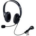 ヘッドセットマイクロフォン/両耳オーバーヘッド/片出しケーブル/1.8m 写真1