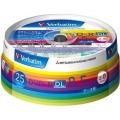 Verbatim製 データ用DVD-R DL 片面2層 8.5GB 2-8倍速 ワイド印刷エリア スピンドルケース入り 25枚
