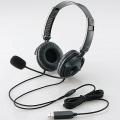 ヘッドセット(両耳オーバーヘッド)/1.8m/USB/ブラック